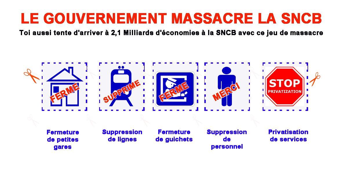 Non au massacre de la SNCB !